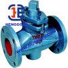 Valvola a rubinetto industriale della flangia della guarnizione di Matel del acciaio al carbonio di API6d/DIN