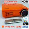 텔레비젼을%s 가진 영상 영사기 Projecteur, HDMI, VGA, AV (D9HB)