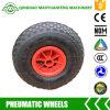 3.00-4 Rodas pneumáticas com as bordas do metal para caminhões de mão e carros da ferramenta