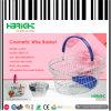 Cosmétique Wire Oval Shopping Panier en métal avec plateau en plastique
