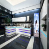 2016年のオーストラリア様式の白く光沢度の高い仕上げの食器棚