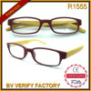 R1555 Best Selling Fashion Trend Delgado Bamboo Temple lectura Anteojos