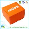 Logotipo branco caixa de cartão de dobramento barata impressa do t-shirt