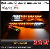Luzes de traço brancas ambarinas da plataforma do diodo emissor de luz da cor da Multi-Tensão