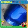 装飾的で明るい光沢のあるキャンデーの青い透過顔料のペンキの粉のコーティング