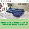 L sofa faisant le coin de Leder de meubles de forme