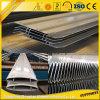 Aluminio anodizado 6063t5 horizontal de la lumbrera para los materiales de construcción del metal