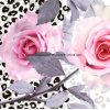 la pantera bianca Pigment&Disperse di 100%Polyester Rosa ha stampato il tessuto per l'insieme dell'assestamento