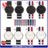 Yxl-009新しい水晶方法カスタムロゴの腕時計の人の腕時計ナイロンストラップの贅沢なブランドのローズの金の良質の腕時計