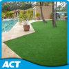 Erba artificiale estetica per il giardino su drenaggio rapido compresso della terra