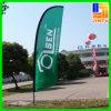Bannière de plume de drapeau d'affichage de la publicité extérieure de câble de PVC de coutume