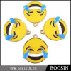 Form-kundenspezifischer reizender gelber Emaille Emoji Gesichts-Metallcharme