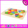 2015 Geometrical colorido Puzzle Wooden Educational Toy para Kids, Wooden Board e Geometric Shape Sorter Intelligent Toy W13e051