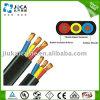 Vieladriges Gummipumpen-Energien-Kabel der hüllen-3X6AWG flaches versenkbares