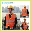 Olá! Vis Reflective Safety Vest com Pocket e Zipper