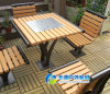 옥외 Picnic Table, Public Seating, Metal Furniture, Chessboard를 가진 Camping Table