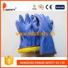 Ddsafety 2017の青PVCサンディ終わりのフリーザーの手袋の安全手袋