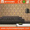 Damasco hermoso del papel de empapelar del PVC de la sala de estar