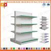 Il livello 4 ha personalizzato la doppia scaffalatura laterale d'acciaio del supermercato della visualizzazione (Zhs515)