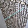 Занавес цепи шарика металла серебра Shimmer роскоши 6mm декоративный