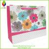 Bolso bonito del cosmético del papel de imprenta de la flor