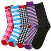 Cotton de lujo Men Socks con Fashion Design Ms-46