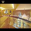 Villa de lujo decorativo de aluminio Latón Escalera Barandilla