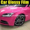 Pellicola rossa lucida del vinile del cambiamento di colore dell'automobile della Rosa