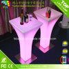 휴대용 LED 점화 가구 LED 커피 높은 테이블