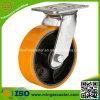 Rueda resistente del arrabio del poliuretano de la ISO 6