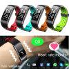 IP68 impermeabilizzano la forma fisica che segue il braccialetto astuto di Bluetooth