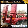 Qualität Tri-Welle 60 Tonnen Lowboy Schlussteil-mit hydraulischer Strichleiter