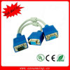 2 en 1 VGA-DVI Male Connector Cable (NM-VGA-1308)