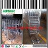 Carrello pieghevole e sistemabile della gabbia del contenitore del rullo d'acciaio