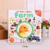 Livre d'enfants fait sur commande semblant de carton d'impression de grippement parfait de vente chaude Nice