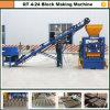 A melhor máquina de venda do tijolo da cinza de mosca do baixo custo Qt4-24 para a casa