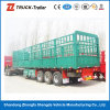 3 de Semi Aanhangwagen van de Lading van de Omheining van de as om Vee voor Hete Verkoop Vervoer