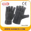 Темный цвет Зашито Промышленная безопасность Хлопок работы перчатки (41021)