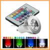 Mudança remota da cor cheia de ampola 1*3W do ponto do diodo emissor de luz do RGB