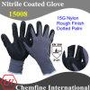15g нейлон трикотажные перчатки с Nitrile штукатуркой и Пунктирные ладони
