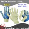 Кевлар трикотажные перчатки с ПВХ покрытием ладони