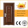 Piel Kerala puerta de acero puerta de metal usados Hierro forjado puertas de la puerta (SC-S050)