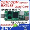 rock chips RK3188 Quad-Core Android mini PC. OEM service