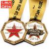 Type bilatéral fait sur commande en gros de médaille de récompense avec des couleurs d'émail