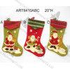 Чулки рождества Санта, украшение 3asst-Christmas