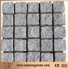 Pietra per lastricati del granito su rete, lastricatore naturale del granito, pietra del cubo