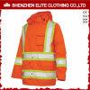 Revestimento alaranjado Windproof impermeável do Workwear do inverno dos homens da estrada (ELTSJI-25)