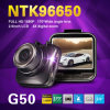 Câmera G50 Novatek do carro DVR 96650 1080P H. 264 170 registrador largo do G-Sensor do zoom do ângulo 4X