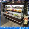 los 2.5m refrigerador abierto de la fruta de la visualización de la Semi-Altura de 3 estantes