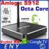 Aluminium 2g 16g Androïde 6.0 Kodi 16.1 van de Kern van Octa van Enybox X2 S912 AC WiFi Doos van TV van Ota van de Antenne de Androïde